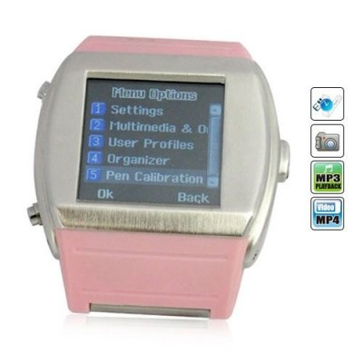 Quad-band 1.5 Inch Touch Screen Quad-band Watch Phone - Camera